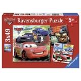 Puzzle lumea masinilor de curse, 3x49 piese Ravensburger