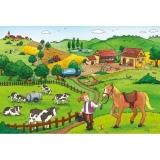 Puzzle munca la ferma, 2x12 piese Ravensburger