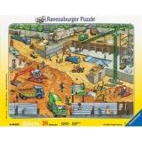 Puzzle constructii pe santier, 38 piese Ravensburger
