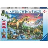 Puzzle epoca dinozaurilor, 100 piese Ravensburger