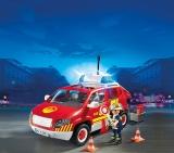 Masina sef pompier cu lumini si sunete Fire Brigade Playmobil