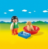 Fetita cu catelusul Playmobil