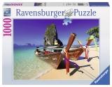 Puzzle barcuta pe plaja, 1000 piese Ravensburger