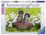Puzzle cainele, pisicuta si soricelul, 1000 piese Ravensburger