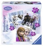 Puzzle Frozen Anna, Elsa si prietenii, 25/36/49p Ravensburger