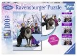 Puzzle Frozen gaseste diferenta, 100 piese Ravensburger