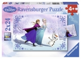 Puzzle Frozen surori pentru totdeauna, 2x24 piese Ravensburger