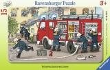 Puzzle Masina De Pompieri, 15 Piese Ravensburger