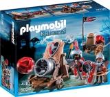 Cavaleri soim cu tun de batalie Knights Playmobil