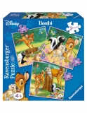 Puzzle Bambi, 3 Buc In Cutie, 25/36/49 Piese Ravensburger