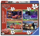 Puzzle Disney Cars, 4 buc in cutie, 12/16/20/24 piese Ravensburger