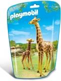 Girafa cu pui City Life Zoo Playmobil