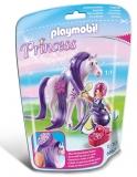 Printesa viola cu cal Princess Playmobil