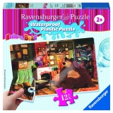 Puzzle Masha si ursul, 12 piese rezistente la apa Ravensburger