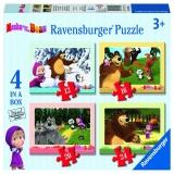 Puzzle Masha si ursul, 4 buc in cutie, 12/16/20/24 piese Ravensburger