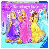 Puzzle printesele Disney, 4 buc in cutie, 10/12/14/16 piese Ravensburger