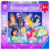 Puzzle printesele Disney, 2x24 piese Ravensburger
