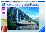Puzzle vapor pe insula, 500 piese Ravensburger
