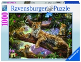 Puzzle familie de leoparzi, 1000 piese Ravensburger