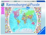 Puzzle harta politica a lumii, 1000 piese Ravensburger