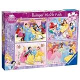 Puzzle printesele Disney, 4x100 piese Ravensburger