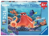 Puzzle In Cautarea Lui Dory, 2X24 Piese Ravensburger