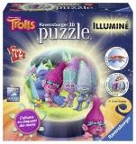 Puzzle 3D Luminos Trolls, 72 Piese Ravensburger