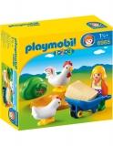 1.2.3 Fermiera Cu Gaini Playmobil