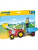 1.2.3 Tractor Cu Remorca Playmobil