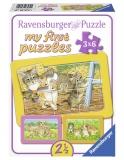 Primul Meu Puzzle Animalute, 3X6 Piese Ravensburger
