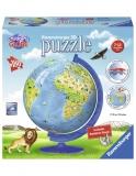 Puzzle 3D Copii - Globul Lumii, 180 Piese Ravensburger