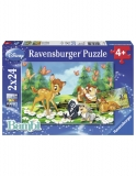 Puzzle Bambi, 2X24 Piese Ravensburger