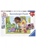 Puzzle Doctorita Plusica, 2X24 Piese Ravensburger