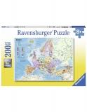 Puzzle Harta Politica A Europei, 200 Piese Ravensburger