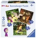 Puzzle Masha Si Ursul, 25/36/49 Piese Ravensburger