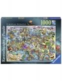 Puzzle Minunile Europei, 1000 Piese Ravensburger