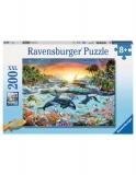 Puzzle Paradisul Delfinilor, 200 Piese Ravensburger