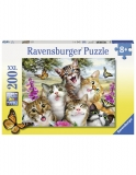 Puzzle Pisicute Amuzante, 200 Piese Ravensburger