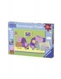 Puzzle Purcelusa Peppa, 2X12 Piese Ravensburger