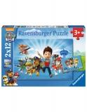 Puzzle Ryder Si Patrula Catelusilor, 2X12 Piese Ravensburger