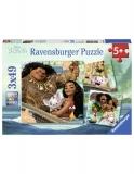 Puzzle Vaiana, 3X49 Piese Ravensburger