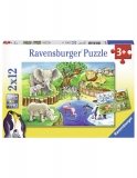 Puzzle Zoo, 2X12 Piese Ravensburger