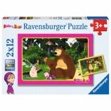 Puzzle Masha Si Ursul, 2X12 Piese Ravensburger