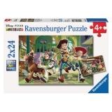 Puzzle Povestea Jucariilor, 2X24 Piese Ravensburger