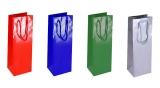 Pungi cadou hartie plastefiata 11 x 35 x 10 cm 100 bucati albastre
